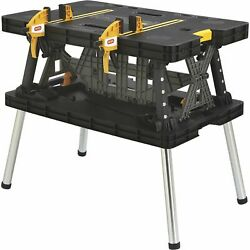 Keter Folding Work Table W/two Adjustable Clamps 1000-lb Cap Model 17182239