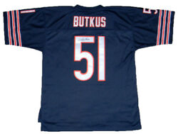 Dick Butkus Signed Autographed Chicago Bears 51 Mitchell And Ness Jersey Jsa