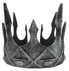 Medieval Queen King Crown Silver One Size $11.99