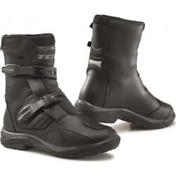 Shoes Boots Bass Motorcycle Touring Adventure Tcx Baja Mid Wp Black Boots
