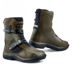 Shoes Boots Bass Motorcycle Tcx Baja Mid Wp Brown Measure 43 Brown Shoes