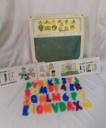 Vintage Fisher Price School Days Play Desk 176 With Lots Of Accessories