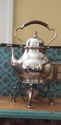 Antique English Sterling Silver Kettle On Stand 1909 Gs And Co Goldsmiths And Co