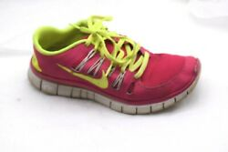 Nike Size 8m Free 5.0 Pink Green Womens Ladies Athletic Running Tennis Shoes