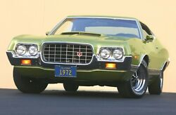 1972 Ford Gran Torino Sport Lime Poster 24x36 Inch