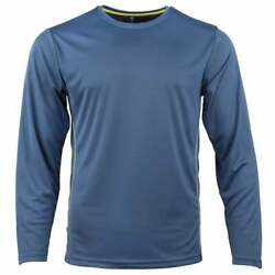 Green Layer Greenlayer Men's Evolution Long Sleeve Tee  Casual   Tops Blue Mens