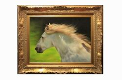 Dino Matteoni 1928 And039horsehair To Windand039 Oil On Canvas/painting Oil Horse