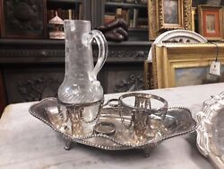 Precious Service Oil And Vinegar Silver France 1782 With Ampoule For Heritage'