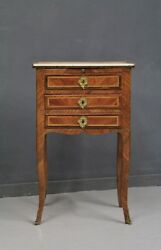 Bedside Table of '700 Veneered Wooden Walnut and RosewoodBedside Table '700