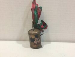 Vintage 1930and039s Original Disney Legend Hand Painted Bell - Mickey Mouse Icon