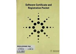 Agilent G1701ca Gcms Chemstation Software Certificate