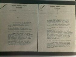 England Aviation Collection 85 Letters Photos 1936-37 Imperial Airways Survey Fl