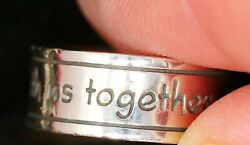 James Avery God Be With Us Together And Apart Sterling Silver Ring Size 5