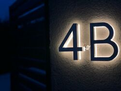 Led House Numbers Sign 3d Illuminous Waterproof Street Address Stainless Steel