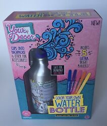 You Decor Color Your Own Water Bottle Kit BPA Free NEW