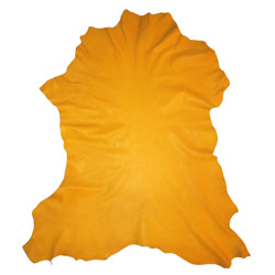 Reduced - Golden Yellow Crafting Goatskin Leather Hide Goat Skin W/ Character