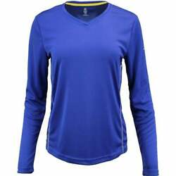 Green Layer Greenlayer Women's Evolution Long Sleeve  Casual   Tops Blue Womens