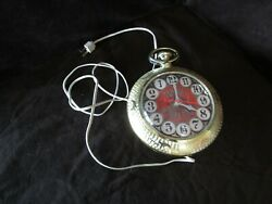 Vtg Novelty Bar Wall Clock 1960-70and039s Counter Clockwise Electric Plastic Spartus