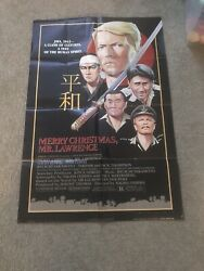 RARE MERRY CHRISTMASMR.LAWRENCE PROMO POSTER FROM 1983 Personalized