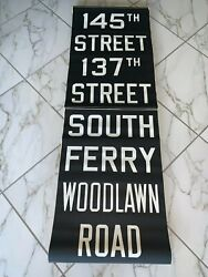 Ny Nyc Subway Roll Sign South Ferry Financial District Battery Park Woodlawn Rd.