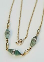 Beautiful Antique Edwardian Gold, Bakelite And Rock Crystal Chain Necklace