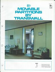 Brochure - Transwall - Movable Partition Building Wall System - C1977 Af405