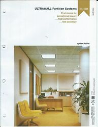 Brochure - Us Gypsum - Ultrawall Partition Building Wall System - 1978 Af406