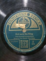 The Empire Glee Party God Bless Wales 78 Rpm Record Zonophone India Vg+