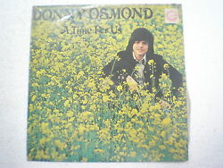 Donny Osmond A Time For Us Rare Lp Record India Indian 83 Vg+