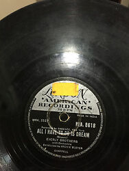 Everly Brothers Claudette/all I Have To Do Is Dream Rare 78 Rpm Record India Vg-