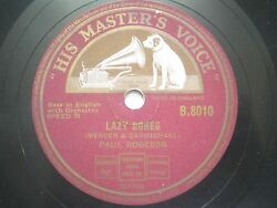 Paul Robeson B 8010 England Rare 78 Rpm Record 10 Red Vg+