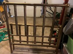 Vintage Iron Queen Size Bed Frame, Headboard, Footboard And Rails