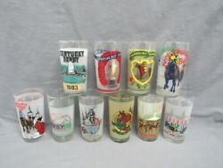 kentucky Derby Official Drinking Glasses Set Of 10 Includes 1981, 1982, 1984...