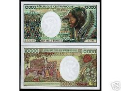 Central African Republic 10000 10,000 Francs P13 1983 Unc Rare Currency Car Note