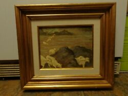 Signed Andre L'archeveque Canadian Oil Painting On Canvas