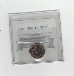 1986 Coin Mart Graded Canadian Small One Cent Sp-67