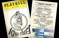 Jerry Orbach Signed 42nd Street Anne Rogers 1984 Playbill / Insert / Ticket