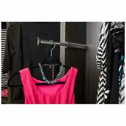 Telescoping Valet Rod Chrome Closet Organization 14 Pull Out Clothes Hanger