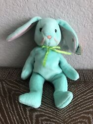 Ty Beanie Baby Hippity The Bunny. Pvc Pellets, Style 4119,date Of Birth 6/1/96