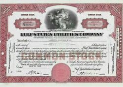 Gulf States Utilities Company - Stock Certificate Aktie 1952 Number Nco/23