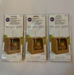 Lot Of Three Caramel Apple Treat Boxes 3 Ct From Wilton 2406 9 Boxes Total New