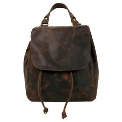 Ancient Look Pure Oil Wax Hunter Leather Backpack Single Handle Bag