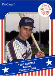 1991 Triple A All-stars Procards Aaa49 Todd Hundley - Nm