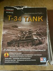 T-34 Tank Big Box Interactive Cd-rom Sealed New 2001 Wwii History Data Footage