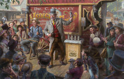Morgan Weistling The Snake Oil Salesman 44 X 28 Limited Edition Canvas Signed