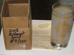 2018 Belmont Stakes Gold Glass-- 7 Of 100 Justify