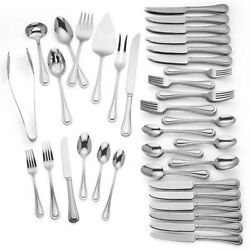 Lenox Shelby Flatware 92 Piece Set Service For 12 Stainless 18/10 New