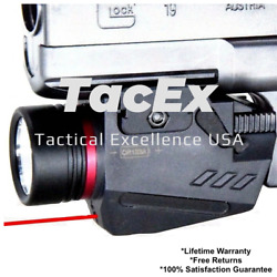 Combo Pistol LED Flashlight Red Laser Sight Fits 20mm Rail Pistol Rifle $19.99