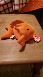 Ty Beanie Original Baby, Rare, Goldie The Goldfish, Style 4023, 94 And 93 Tags