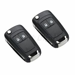 2Pcs Remote Key 2 Buttons 433MHz ID46 Chip Battery Fit For Orlando 2011 Present